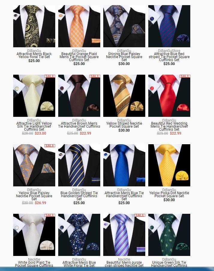 39db50cc3702 Dibangu Mens Silk Tie And Pocket Square Woven Floral Necktie ...