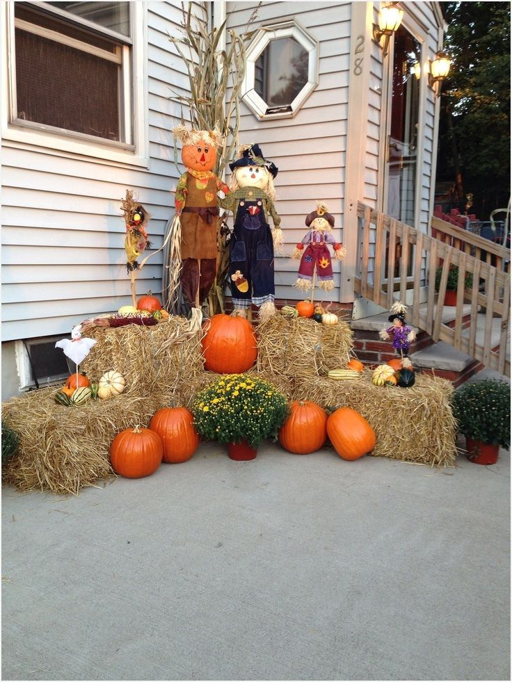 Fall Outdoor Decorating Ideas In 2019 Fall Yard Decor