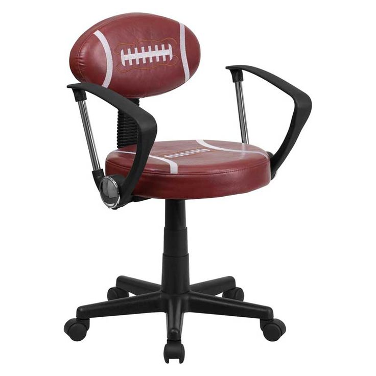 Football swivel task office chair with arms bay