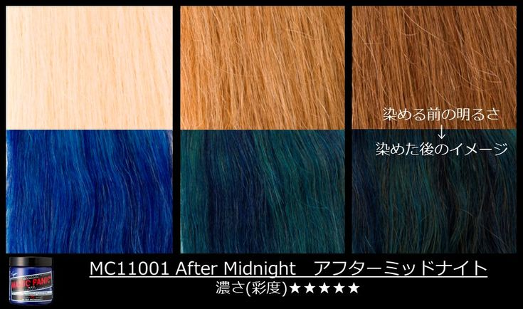 What hour is it? #AfterMidnight #ManicPanic #ManicPanicJapan #Bluehair See how the color shows up on different shades of blonde!