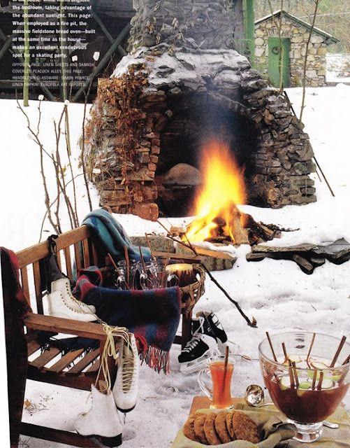 ♔ Winter Pleasure is what we call this style of dining.......