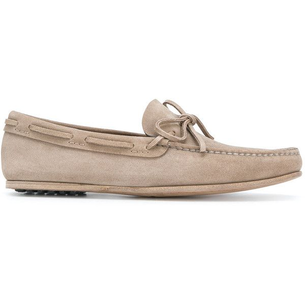 Car Shoe moccasin loafers (44325 DZD) ❤ liked on Polyvore featuring men's fashion, men's shoes, men's loafers, brown, mens leather shoes, mens slipon shoes, mens leather loafer shoes, leather sole mens shoes and mens studded shoes