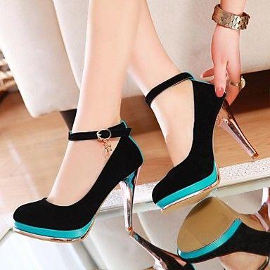 talón de estilete del dedo del pie redondos zapatos de tacones de las mujeres (más colores) – USD $ 30.68
