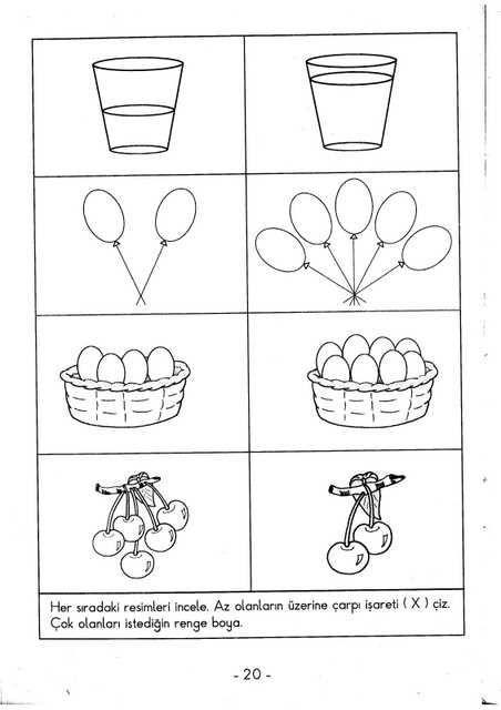 şubat Ayı Okulöncesi Kavramlar çizgi çalışması Preschool