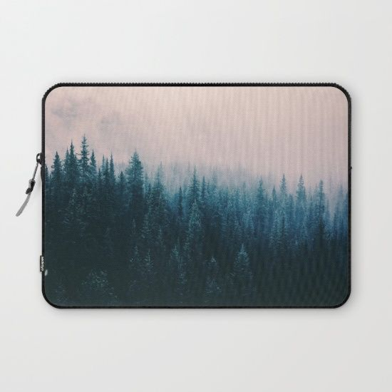 Pastel Forest Laptop Sleeve by Lostfog Co↟. Worldwide shipping available at Society6.com. Just one of millions of high quality products available.