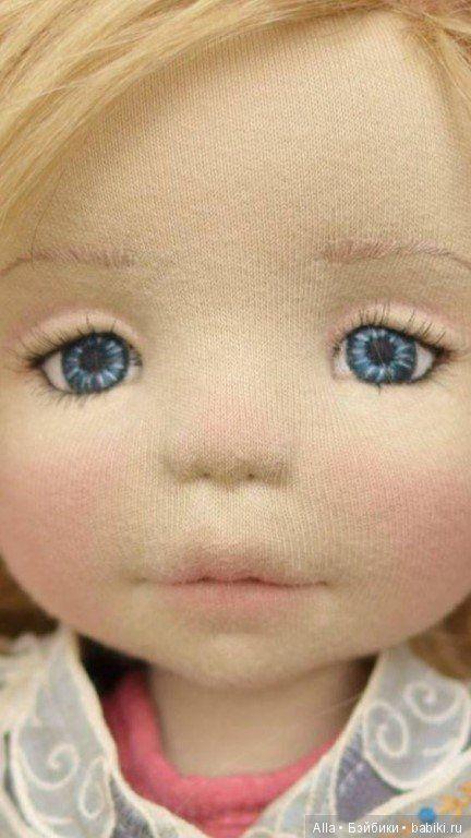 Вышиваем лицо текстильным куклам / Текстильная кукла ...