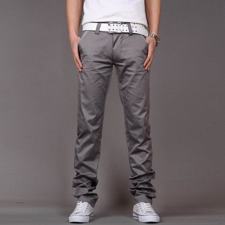 Gender: Men Fit Type: Regular Length: Full Length Closure Type: Zipper Fly Pant Style: Straight Material: Cotton, Polyester size Waist Width(cm) Hip Width(cm) Pant length(cm) 28 72 94 100 29 74 96 101
