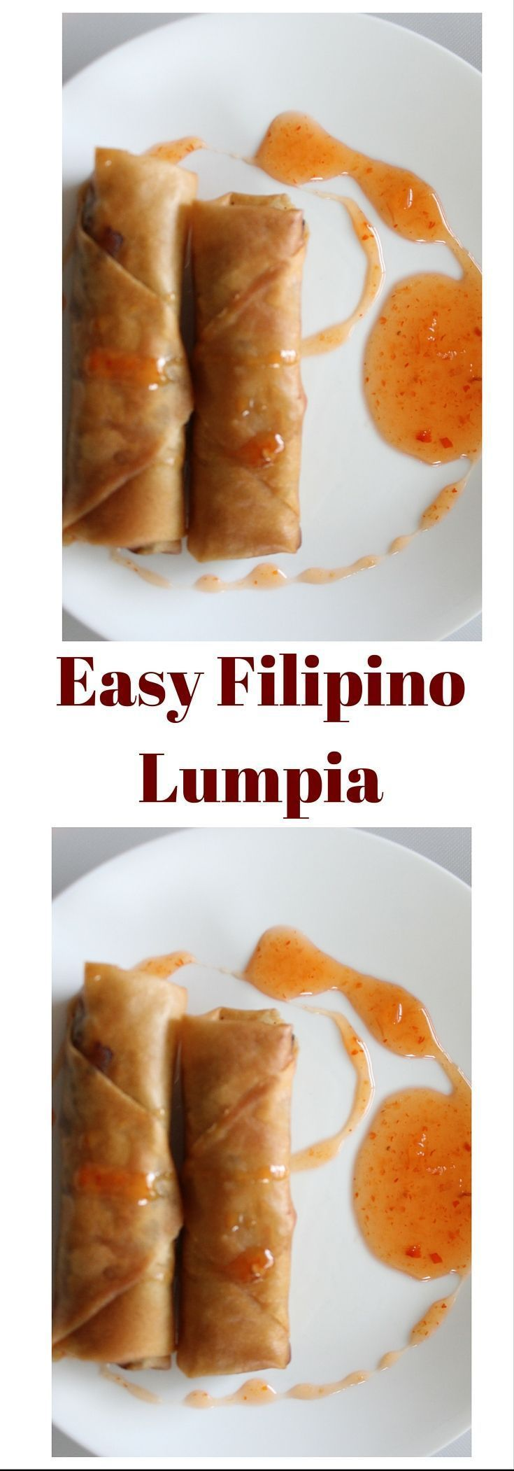 CRAVING LUMPIA? THIS LUMPIA RECIPE INCLUDES STEP BY STEP PHOTOS ON THE BLOG. This filipino lumpia is crunchy, delicious, and easy to make. This lumpia is delicious (masarap). Click through to make this favorite filipino dish. Click through to check out th