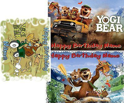 EDIBLE CAKE IMAGE YOGI BEAR BIRTHDAY PARTY ICING TOPPER  | eBay