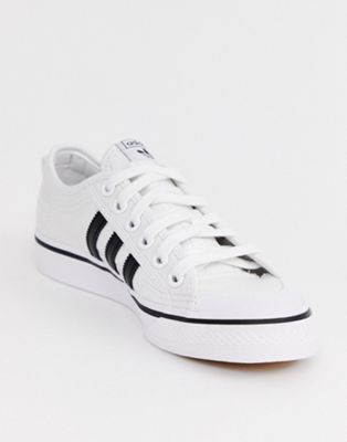 8823d6df3 adidas Originals white and black Nizza sneakers in 2019   Shoes ...
