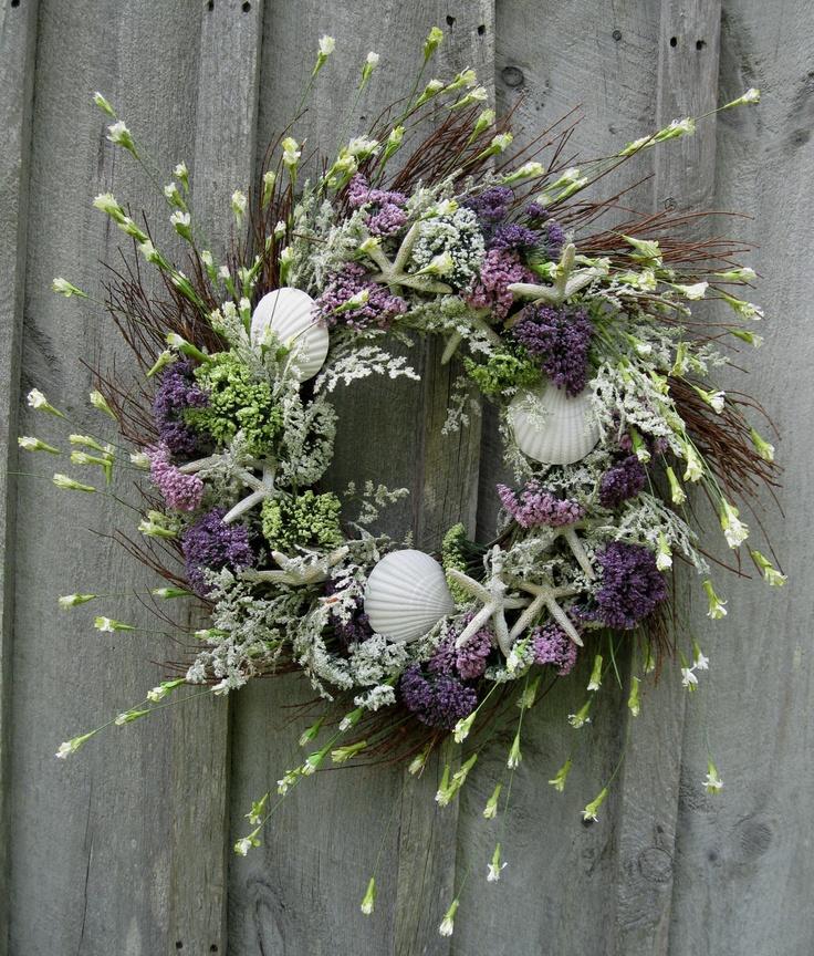 Beach Wreath, Summer Cottage Wreath, Coastal, Nautical, Nantucket, Cape Cod. $139.00, via Etsy.