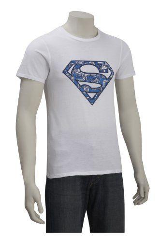 DC Comics - Camiseta de Superman para hombre, talla 37/38, color Blanco #camiseta #starwars #marvel #gift