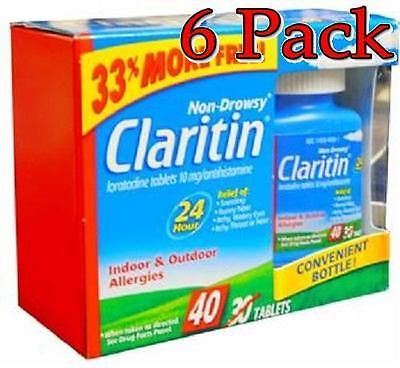 Claritin 24 Hour Non-Drowsy Allergy Relief Tabs, 40ct, 6 Pack 041100810984S1975