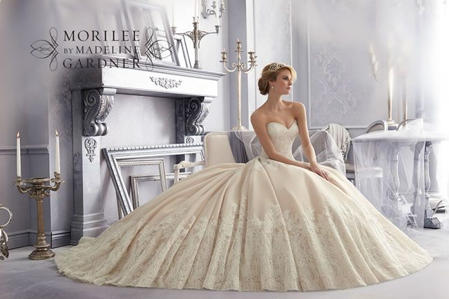 Style 2674 from the Mori Lee Bridal collection for Fall 2014 – check out the rest of the wedding dresses here!