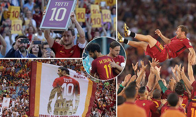 Totti's makes emotional Roma farewell but is only named on the bench