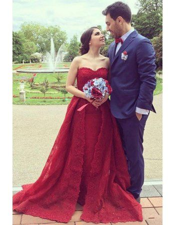 Modern Red Strapless Sequin Long Princess Celebrity Prom Dress