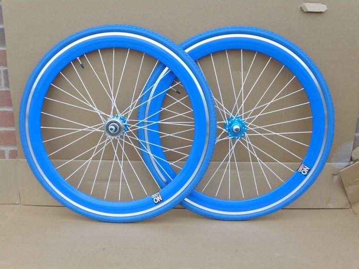 NOLOGO Blue Single Speed wheelsets Fixed Fixie 700c flip-flop hub Wheelsets