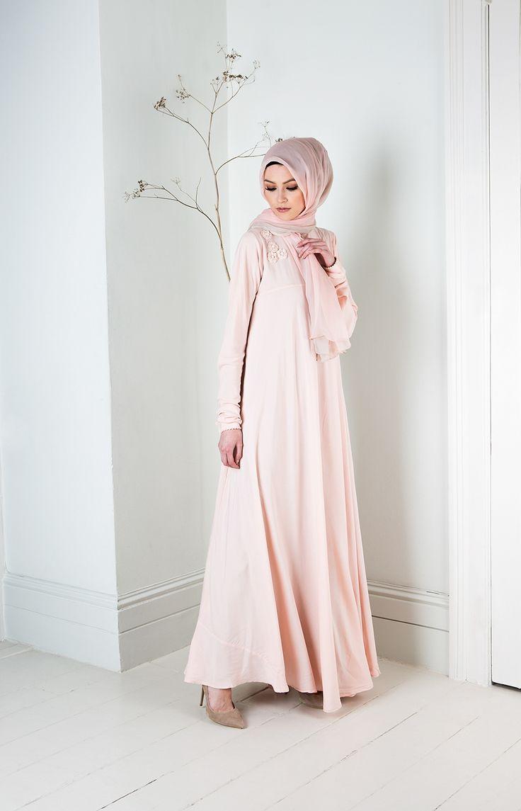 Aab UK Pink Peony Abaya : Standard view