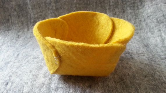 Small Felted Bowl MIMI made in handmade felt form by CaramelShop, $12.70