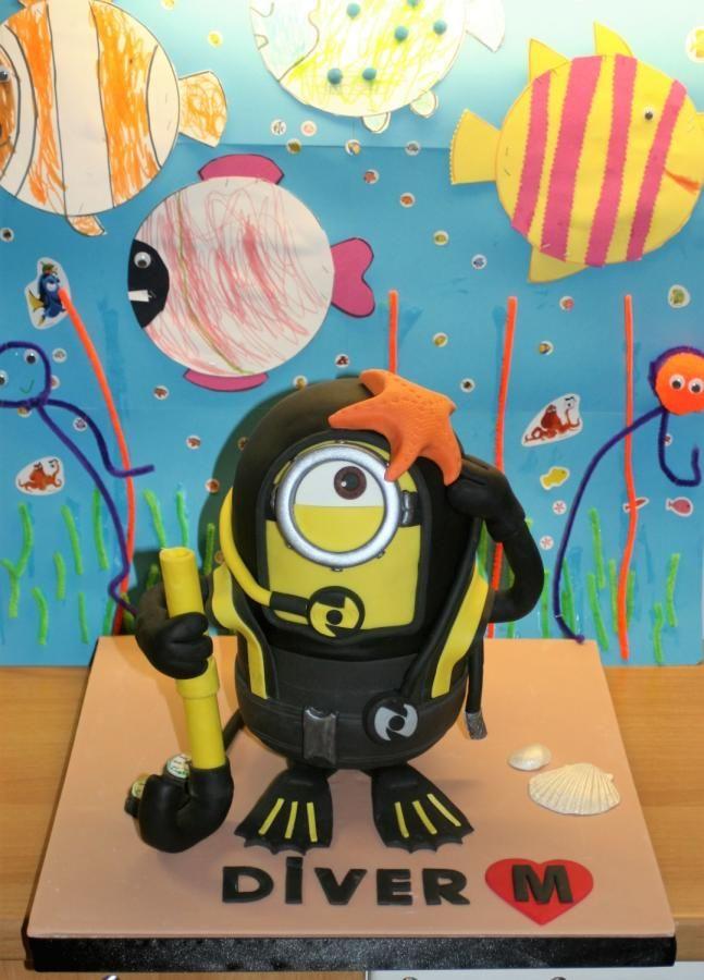 Scuba Diver Minion - Cake by EffieS