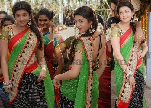 Kajal Half and Half Saree | Saree Blouse Patterns