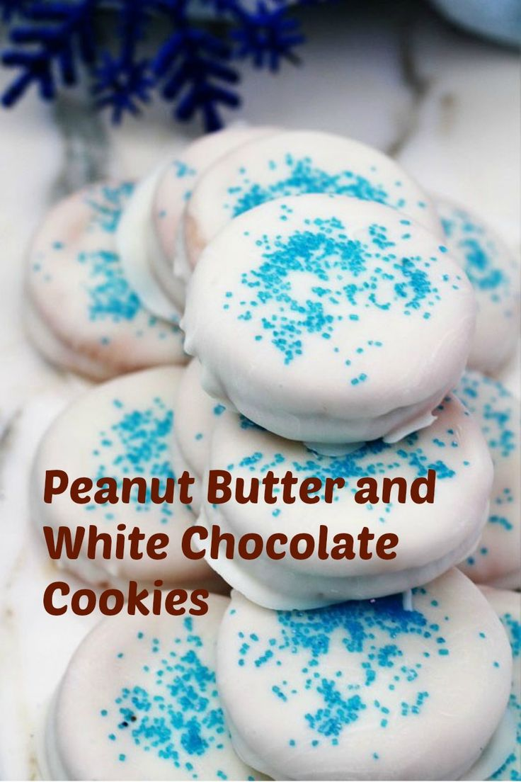 Peanut Butter and White Chocolate Cookies
