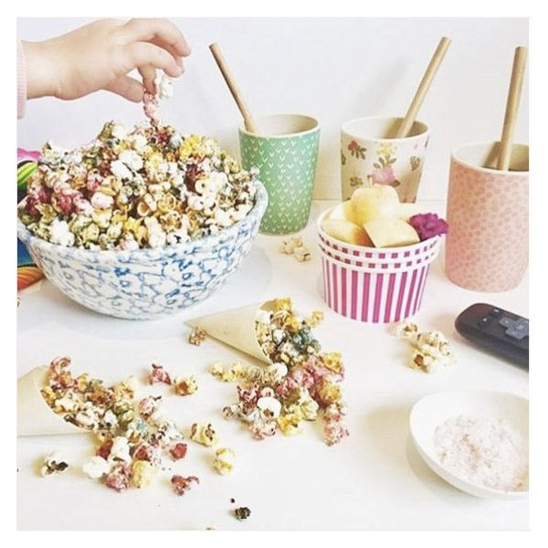 Make coloured Pop-Corn! I think we were secretly into this more than the kids. So much fun to make, and a super sneaky way to get the kids eating super-foods like Tumeric too! Our food-goddess Claire Snell created this for us! #kidsfood #schoolholidays #funactivities #popcorn #healthfood