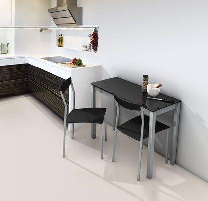 Cocinas mesa de cocina peque a cocina pinterest for Mesas auxiliares para cocinas pequenas