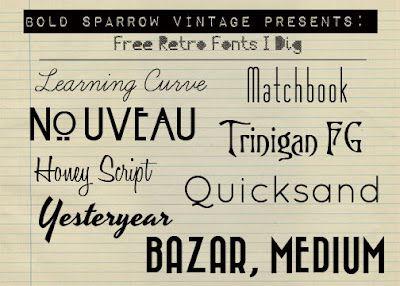 Bold Sparrow Vintage: Free Retro Fonts!
