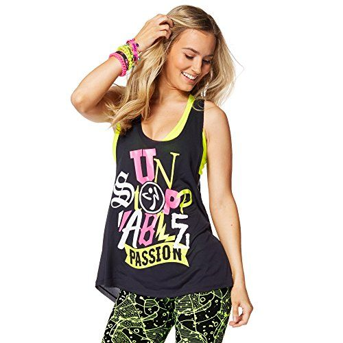 Zumba Fitness Damen WT Passion Loose Tank, Back to Black
