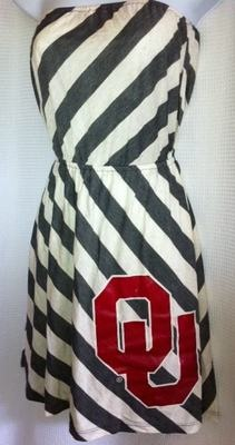Oklahoma Sooners OU Game Day Dress Stripe Small Medium | eBay