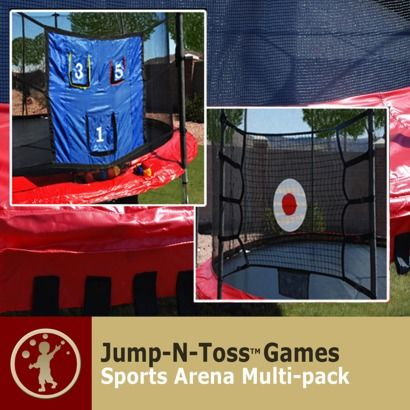 Skywalker Trampolines Jump-n-Toss Multi-Sports Arena Game - Black (One Size)