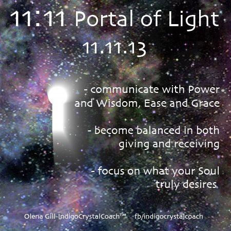 11:11 Portal of Light   http://indigocrystalcoach.wordpress.com http://www.facebook.com/indigocrystalcoach