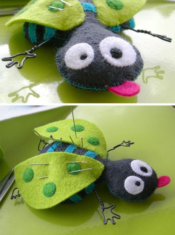 Wonderfully goofy felt bug!
