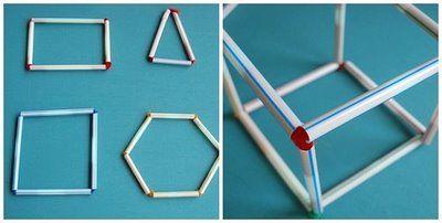 Straw shapes activity: 3D Shape, Shape Activities, Activities For Kids, Time Activities, Kids Crafts, Straws Shape, Travel Math Activities, Families Crafts, Shape Crafts