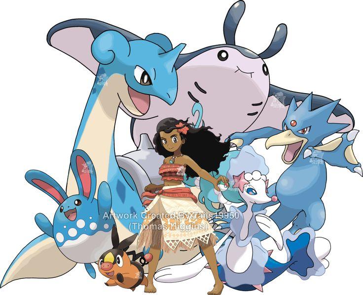Moana - Pokemon Team by Tails19950.deviantart.com on @DeviantArt