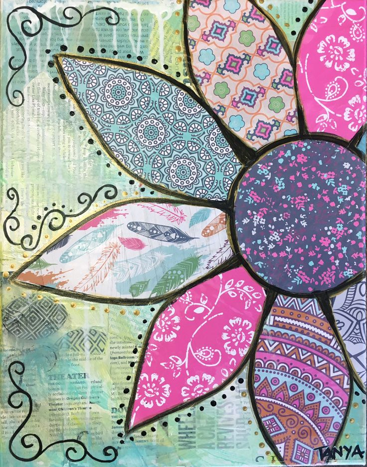 Spring Flower - Mixed Media Decoupage - Friday - Vincent's Loft (General Admission)