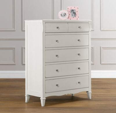 RH baby&child's Sloane Tall Dresser: The graceful lines of our dresser include gently contoured top drawers, shaped aprons and splayed feet, giving Sloane its colonial sensibility.