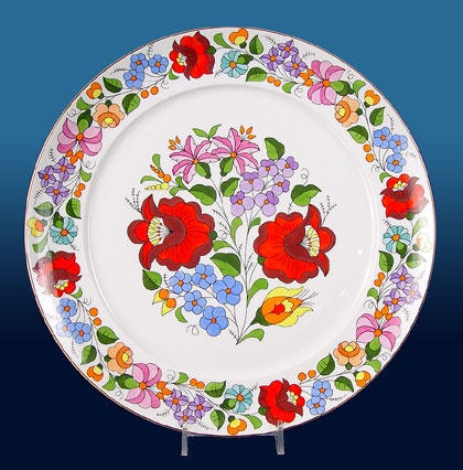 Image detail for -Hand Painted Porcelain Wall Plate By Kalocsa Hungary | klugex.com ...