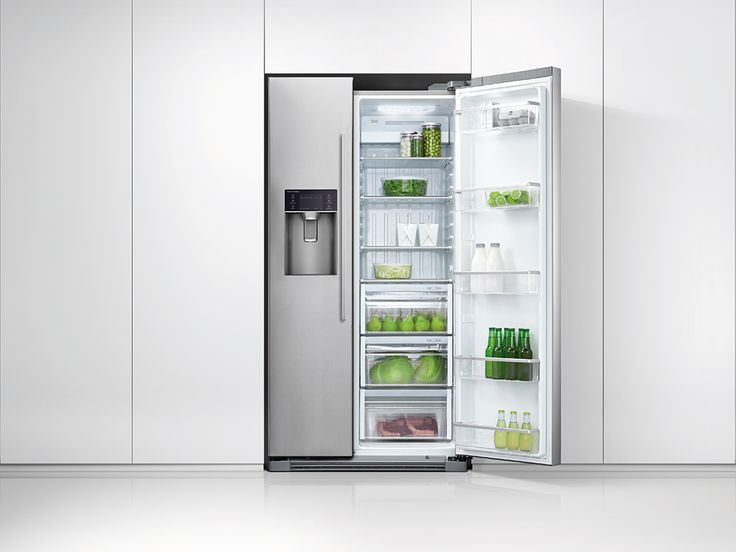 Fisher & Paykel Side by Side Fridge - 900mm Ice & Water 610L (RX611DUX1). Designed to complement the Fisher & Paykel family of kitchen appliances, this generous side by side fridge-freezer is perfect for the busy family.