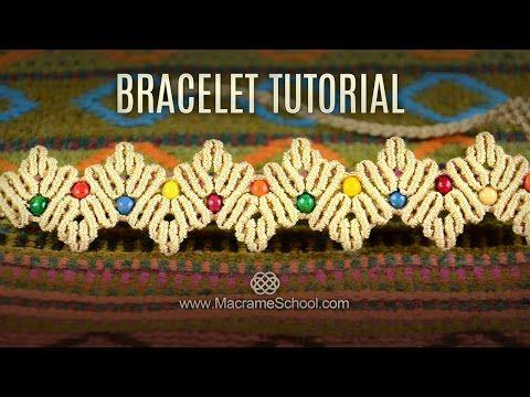 Zig Zag Herringbone Bracelet Tutorial by Macrame School - YouTube