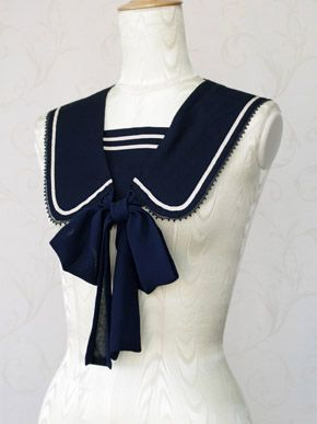 Turn any dress into a sailor dress. Victorian maiden ~ Classic Marin tippet