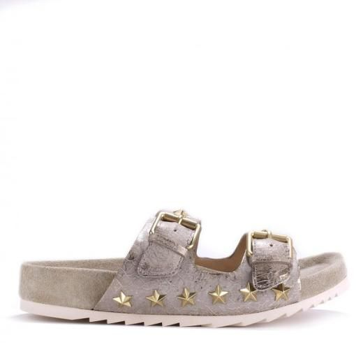 Ash United Sandle Metal crack Gold/Topo - A great range of Ash United Sandle Metal Crack Goldtopo from Blue Saffron Walden , independent fashion boutique and home of elegant ladies wear.