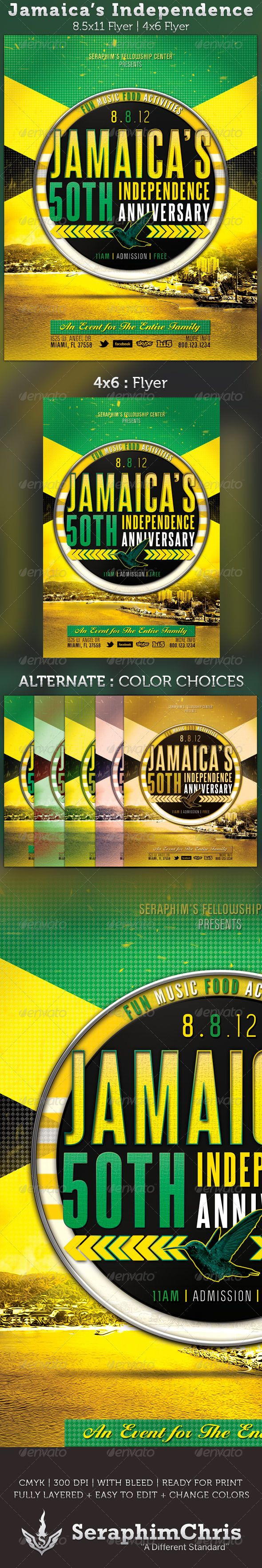Jamaica's Independence Flyer Template - $6.00