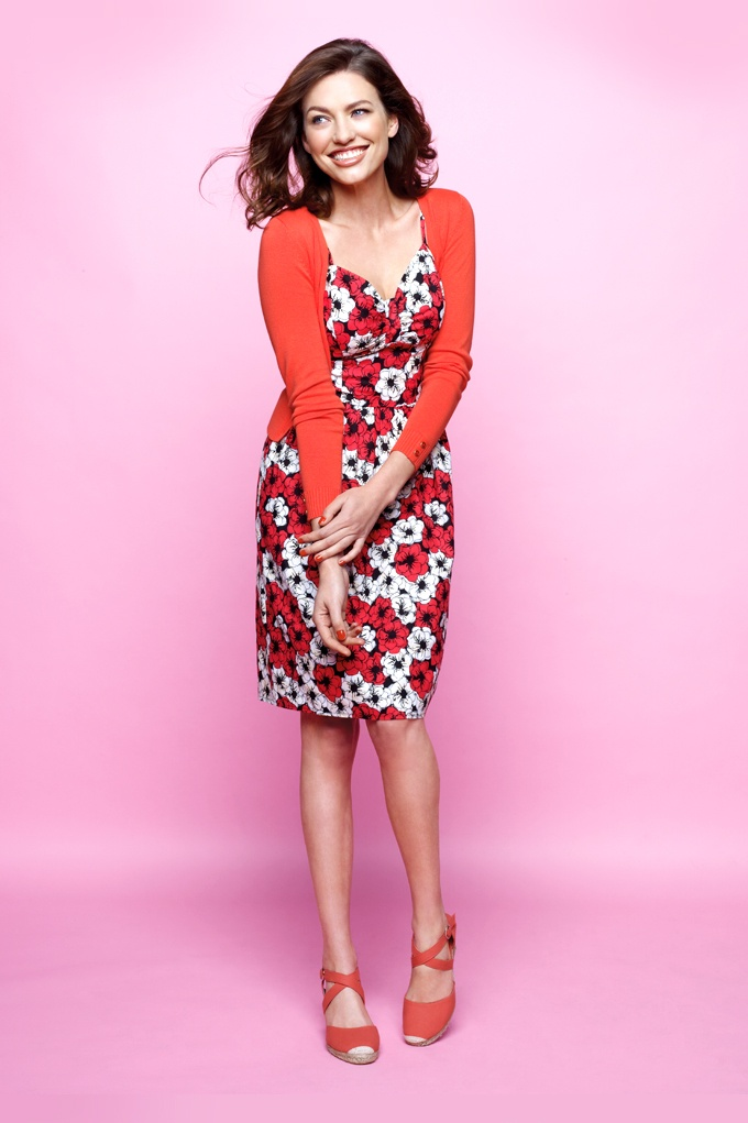 Kelso cardigan and printed dress