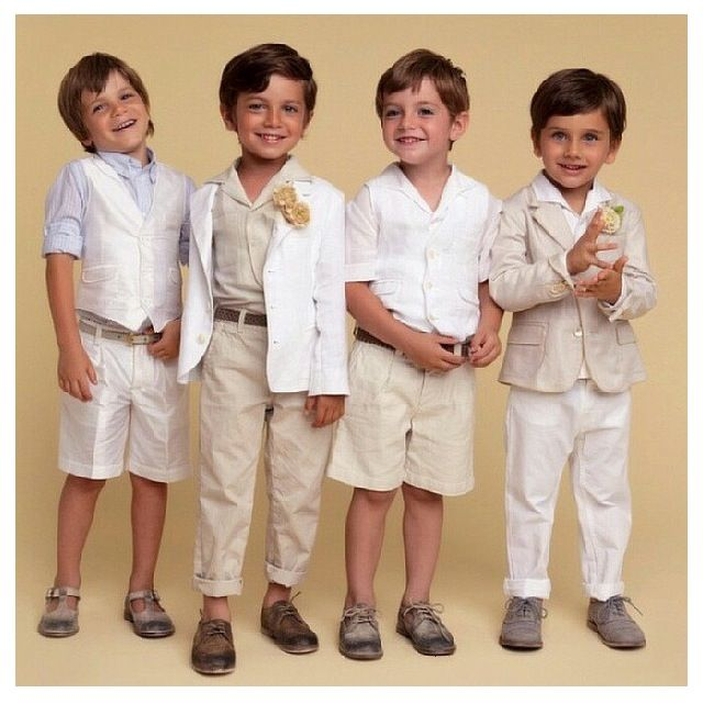 Boys Capri Pants Toddler Boy Clothes Linen Ring Bearer Natural