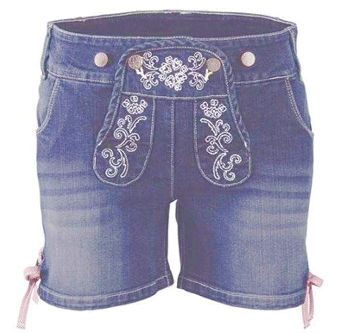 Hose Shorts Jeans Trachtenhose Damen M 38 blau