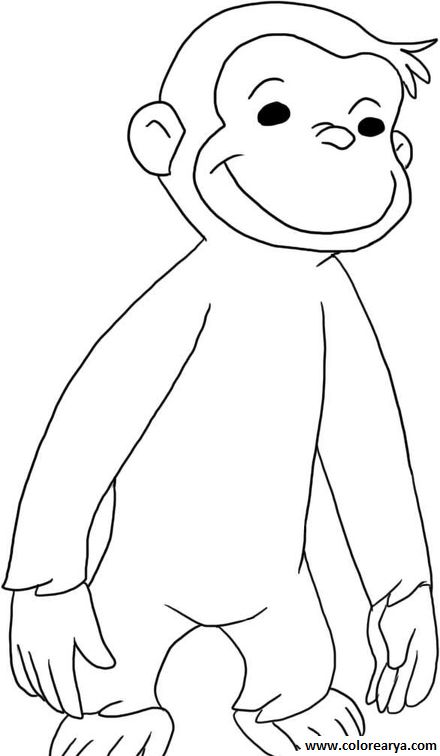 curious george jungle coloring pages - photo#27