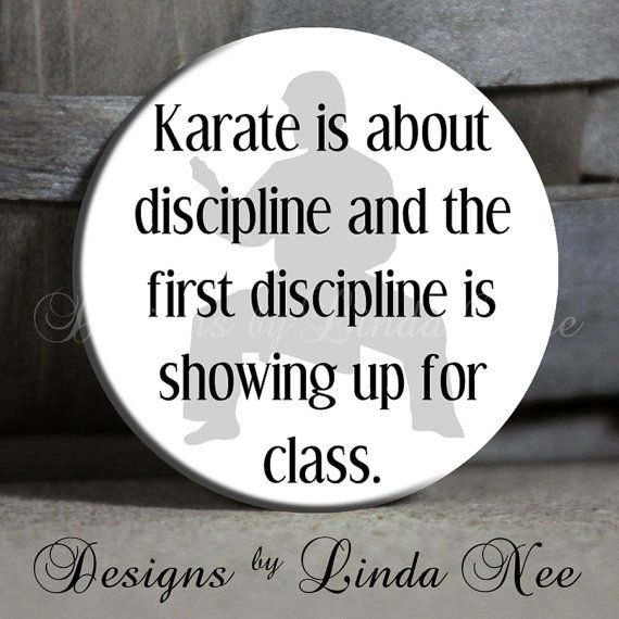 Exclusive  Karate is about discipline and by DesignsbyLindaNeeToo, $1.50