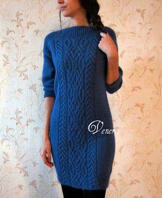 Knitting Stories by Venera: Knitted dress